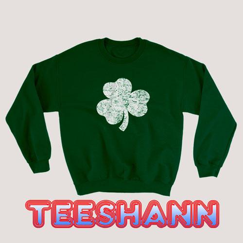 Sweatshirt Distressed Shamrock Unisex