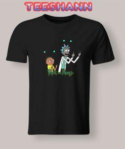 Rick & Morty Middle Finger Tshirt
