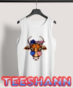 4th Of July Cow Tank Top