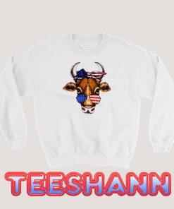 4th Of July Cow Sweatshirt