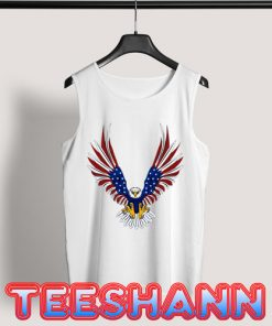 4th Of July Eagle Tank Top Graphic Tee Size S - 3XL