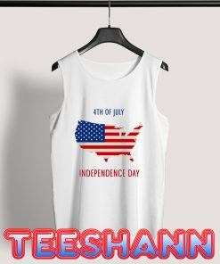 4th of July US Flag Tank Top Independence Day Size S - 3XL