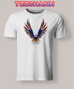 4th Of July Eagle T-Shirt Graphic Tee Size S - 3XL