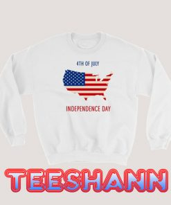 4th of July US Flag Sweatshirt Independence Day Size S - 3XL