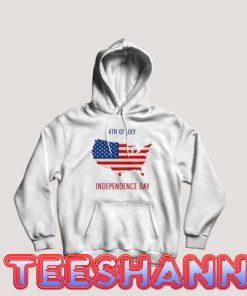 4th of July US Flag Hoodie Independence Day Size S - 3XL