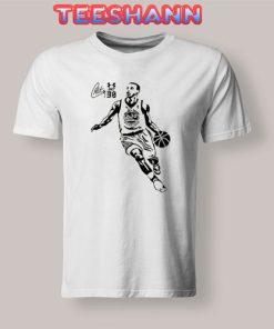 Stephen Curry Clip Art T-Shirt Basketball Size S - 3XL