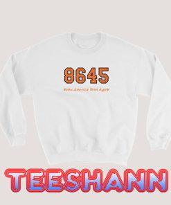 8645 Make America Think Again Sweatshirt Unisex Adult Size S - 3XL