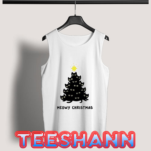 Cute Meowy Christmas Tank Top Unisex Adult Size S - 3XL