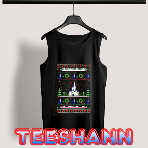 Magical Castle Christmas Tank Top Adult Size S - 3XL