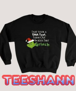 Test Grinch Christmas Sweatshirt Adult Size S - 3XL