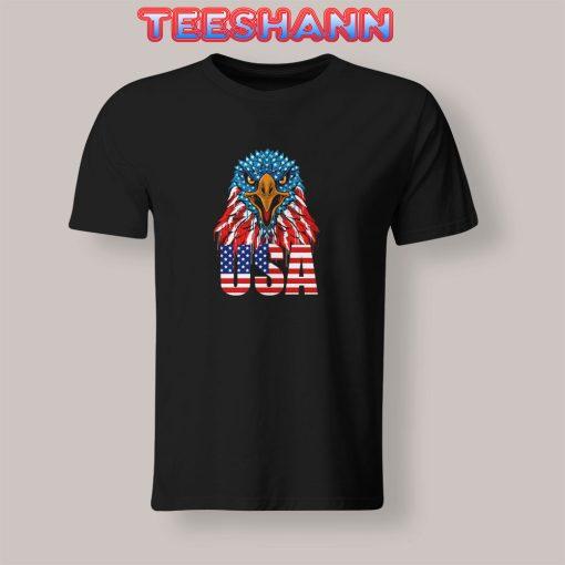 Eagle-Head-America-Flag-T-Shirt